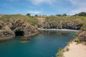 stock photo of mendocino  - A view of a part of the coast of Mendocino - JPG