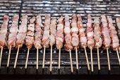 image of souvlaki  - Souvlaki kebap on the grill - JPG