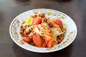 stock photo of green papaya salad  - Papaya Salad - JPG