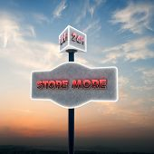 stock photo of self-storage  - illustration of a vintage self storage sign - JPG