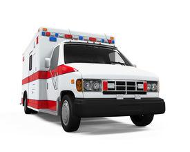 stock photo of ambulance  - Ambulance Car isolated on white background - JPG