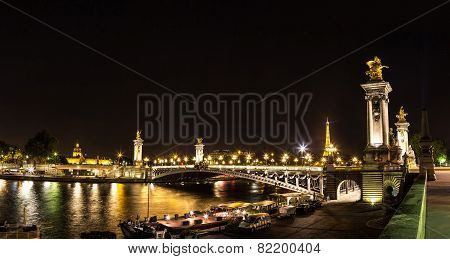 Eiffel Tower And Pont Alexandre Iii