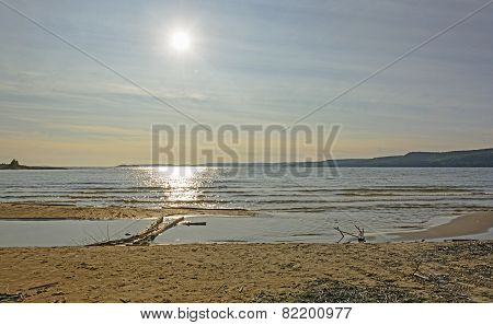 Sun Over A Wilderness Beach