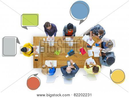 Diversity Business People Teamwork Communication Meeting Concept
