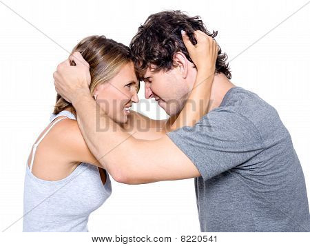 Portrait Of The Angry Young Couple
