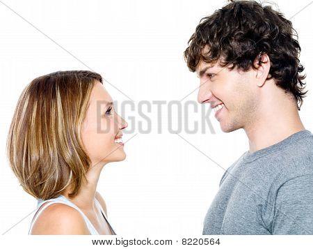 zwei junge Menschen aus