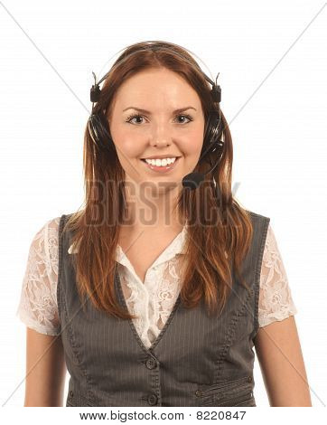 Portrait of helpline operator
