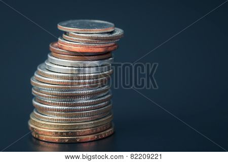 Group Of Us American Coin Vertical Stacking