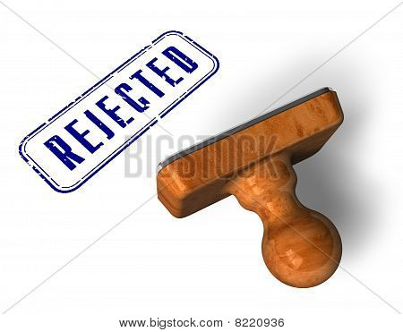 """Rejected"" stamp"
