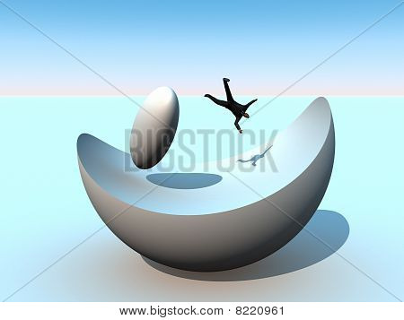 Abstract Businessman Setback