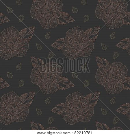 Delicate Retro Floral Seamless Pattern Background
