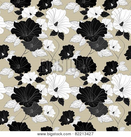 Graceful Seamless Floral Pattern