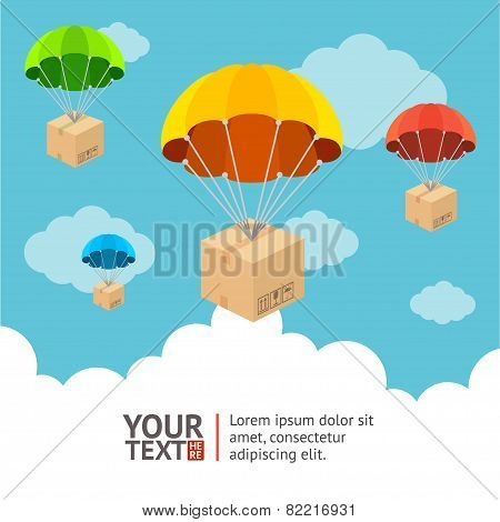 Vector parachute card