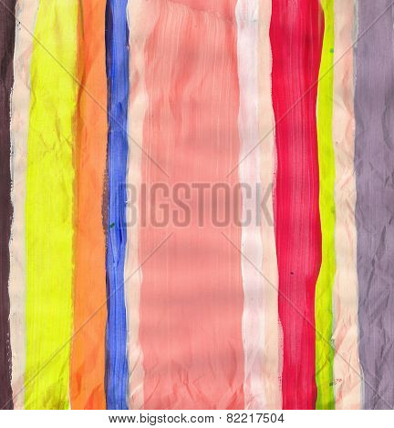Abstract hand painted stripes -  grunge background