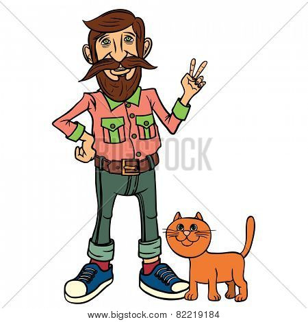 Hipster character design