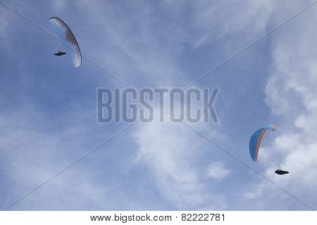 Two Symmetric Paragliders