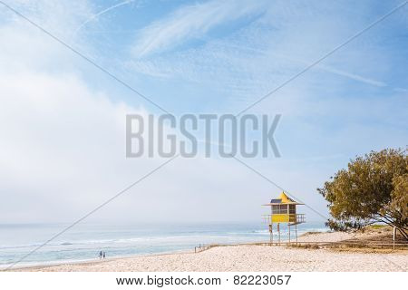 Foggy Morning On Australian Beach