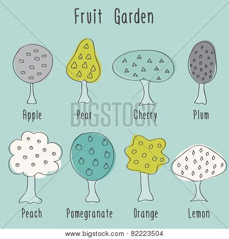 Garden Fruit Trees
