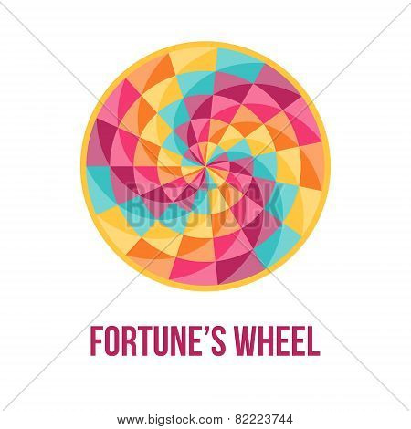 Fortune Wheel With Abstract Geometric Pattern