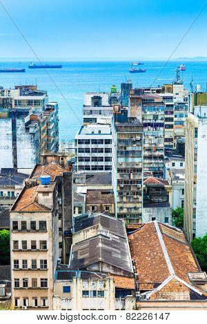 Aerial view of Salvador in Bahia, Brazil