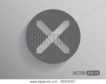 Flat  icon of prohibit