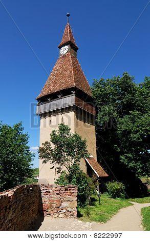 Biertan Fortress Tower In Transylvania
