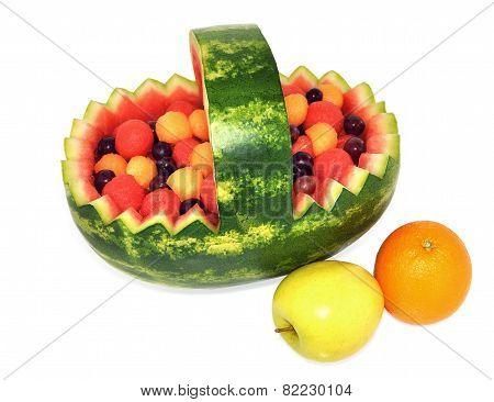 Healthy natural fruit basket