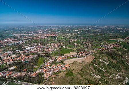 Panoramic View Of The City From The Fortress Of San Marino