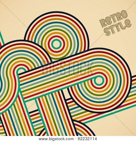 Abstract retro rounded vector background