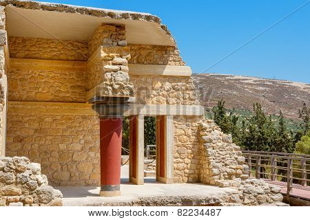 Knossos Palace Ruins. Crete, Greece