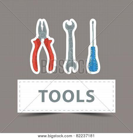 Hardware Tools Drawing