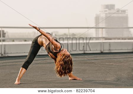 yoga woman stretching