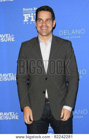 SANTA BARBARA - FEB 1:  Dave Karger at the Santa Barbara International Film Festival - Virtuosos Award at a Arlington Theater on February 1, 2015 in Santa Barbara, CA