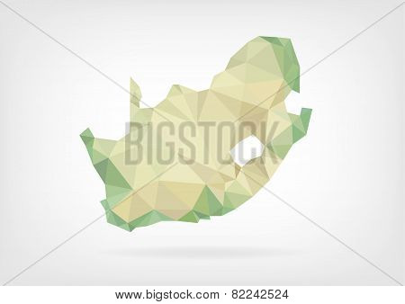 Low Poly map of South Africa