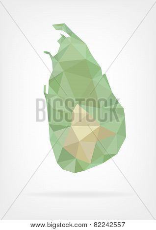 Low Poly map of Sri Lanka