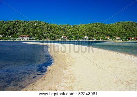Mediterranean Sea. Greek Beach Of Sea