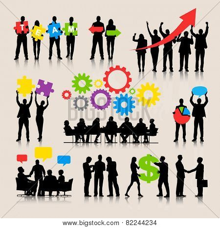 Business People Team Growth Success Corporate Vector Concept