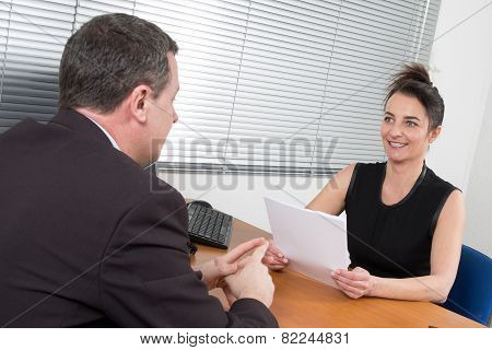 Candidate During A Job Interview
