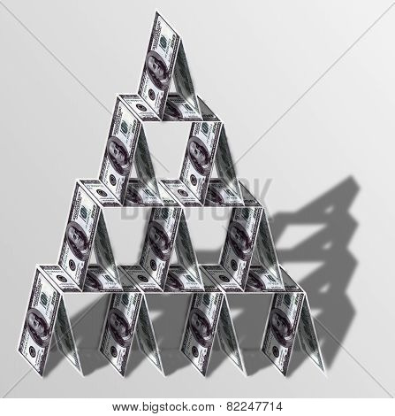 House Of Cards Of Dollars