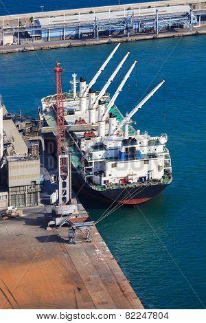 new floating crane at sea port