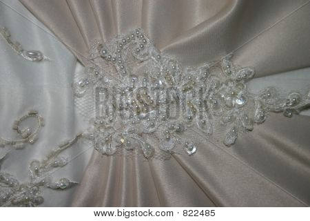 Wedding Dress Lace and Beads Stock photo