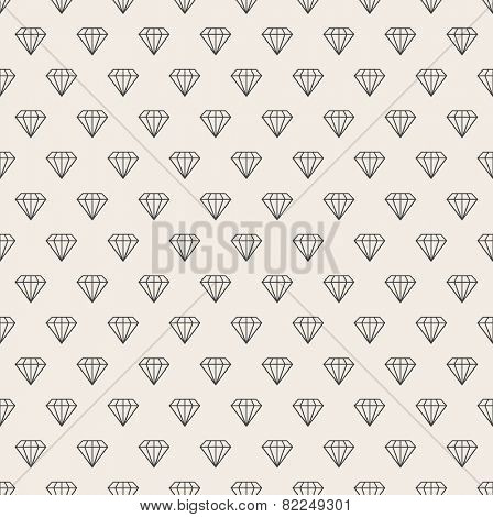 Vector abstract seamless background. Line pattern. Diamonds background