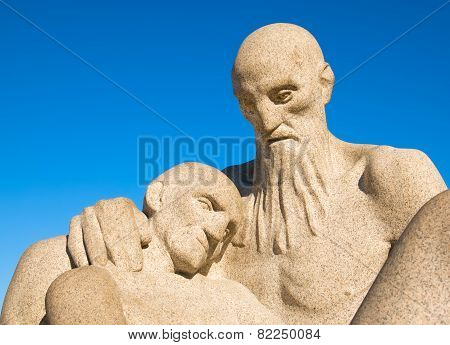 Oslo. Norway. The Vigeland Park. Old woman and man