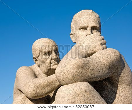 Oslo. Norway. The Vigeland Park. Mother and son