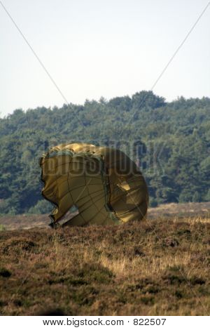 Parachute on ground