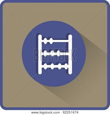 Old retro abacus icon. Vector flat icon.