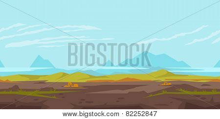 Hills Game Background Landscape