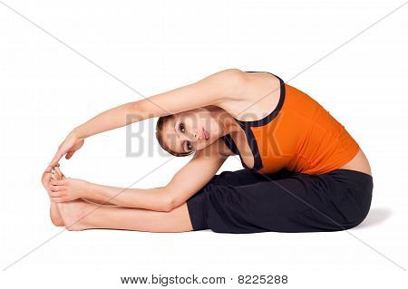 Woman Practicing Yoga Asana
