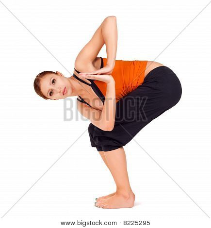 Frau üben Yoga-Übung