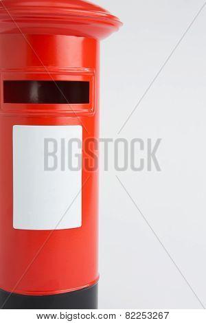 Studio Shot Of Red Post Box
